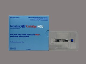 Follistim AQ 900 unit/1.08 mL subcutaneous cartridge