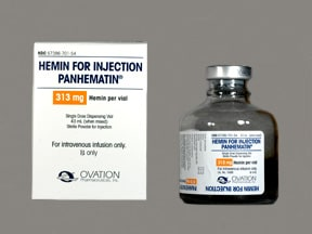 Panhematin 313 mg intravenous solution