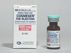 Cosmegen 0.5 mg intravenous solution