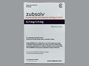 Zubsolv 5.7 mg-1.4 mg sublingual tablet
