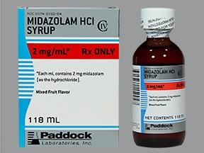 midazolam 2 mg/mL syrup