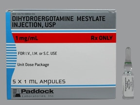 dihydroergotamine 1 mg/mL injection solution