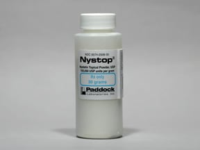 Nystop 100,000 unit/gram topical powder