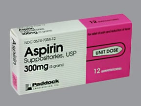 aspirin 300 mg rectal suppository