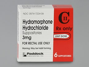 hydromorphone 3 mg rectal suppository
