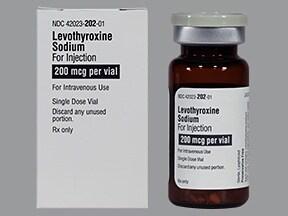 levothyroxine 200 mcg intravenous solution