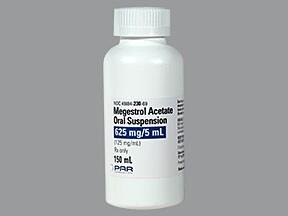 megestrol 625 mg/5 mL oral suspension