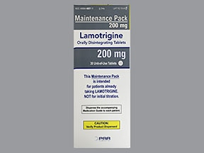 lamotrigine 200 mg disintegrating tablet