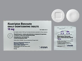 rizatriptan 10 mg disintegrating tablet