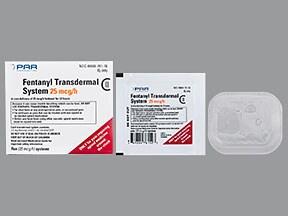 fentanyl 25 mcg/hr transdermal patch