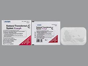 fentanyl 75 mcg/hr transdermal patch