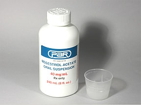 megestrol 400 mg/10 mL (40 mg/mL) oral suspension