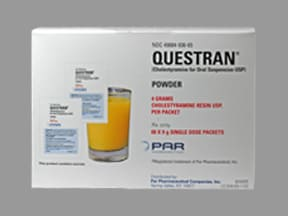 Questran 4 gram powder for susp in a packet