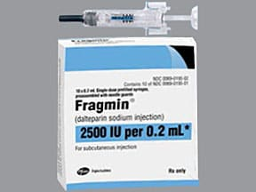 Fragmin 2,500 anti-Xa unit/0.2 mL subcutaneous syringe