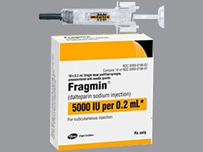 Fragmin 5,000 anti-Xa unit/0.2 mL subcutaneous syringe