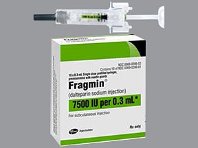 Fragmin 7,500 anti-Xa unit/0.3 mL subcutaneous syringe