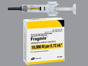 Fragmin 18,000 anti-Xa unit/0.72 mL subcutaneous syringe