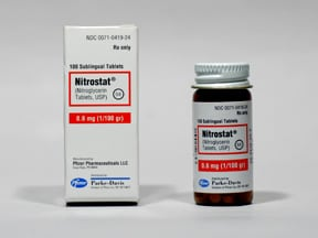 Nitrostat 0.6 mg sublingual tablet