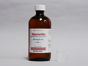 Neurontin 250 mg/5 mL oral solution