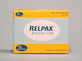 Relpax 20 mg tablet