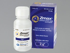 Zmax 2 gram/60 mL oral suspension,extended release