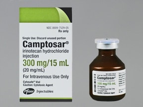 Camptosar 300 mg/15 mL intravenous solution
