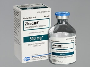 Zinecard (as HCl) 500 mg intravenous solution