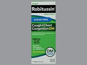 Adult Robitussin Peak Cold DM 10 mg-100 mg/5 mL oral liquid