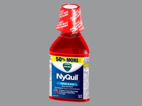Vicks Nyquil Nighttime Relief 6.25 mg-15 mg-325 mg/15 mL oral liquid