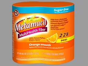 Metamucil Sugar-Free (aspartame) 3.4 gram/5.8 gram oral powder