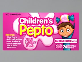 Children's Pepto 400 mg chewable tablet
