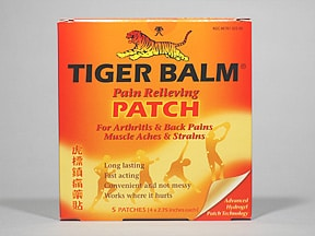 Tiger Balm (with capsicum) 16 mg-24 mg-80 mg topical patch
