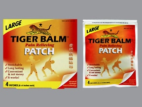 Tiger Balm 230 mg-70 mg topical patch