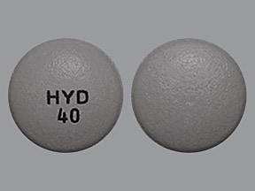 Hysingla ER 40 mg tablet, crush resistant, extended release