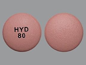 Hysingla ER 80 mg tablet, crush resistant, extended release