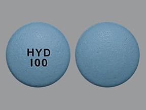 Hysingla ER 100 mg tablet, crush resistant, extended release