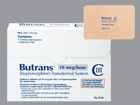 Butrans 10 mcg/hour transdermal patch