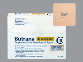 Butrans 20 mcg/hour transdermal patch