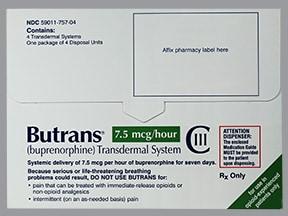 Butrans 7.5 mcg/hour transdermal patch