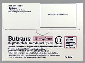 Butrans 15 mcg/hour transdermal patch