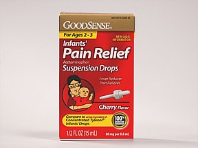 Infant's Pain Relief 80 mg/0.8 mL oral drops,suspension