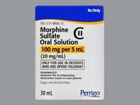 morphine concentrate 100 mg/5 mL (20 mg/mL) oral solution