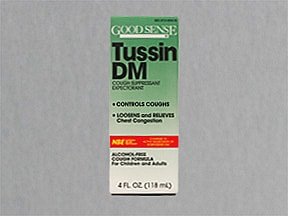 Tussin DM 10 mg-100 mg/5 mL syrup