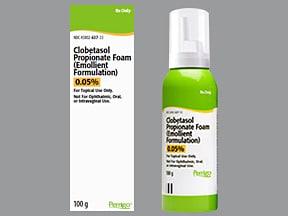 clobetasol-emollient 0.05 % topical foam