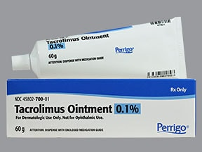 tacrolimus 0.1 % topical ointment