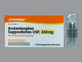 acetaminophen 650 mg rectal suppository