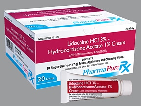 lidocaine 3 %-hydrocortisone 1 % (7 gram) rectal kit