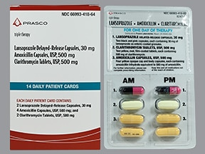 amoxicillin-clarithromycin-lansoprazole 500 mg-500 mg-30 mg combo pack