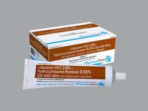 lidocaine-hydrocortisone-aloe vera 2.8 %-0.55 % rectal gel