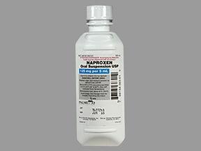 naproxen 125 mg/5 mL oral suspension